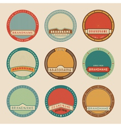 Label templates color vector image vector image