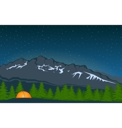 Landscape With Mountain Peak 4 vector image vector image