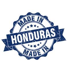 Made in honduras round seal vector