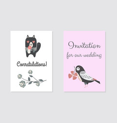 New born conratulation card design vector