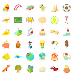 Playground icons set cartoon style vector
