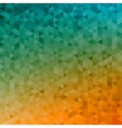 Polygonal abstract Background - yellow orange vector image vector image