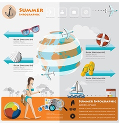 Summer and travel vacation infographic vector