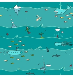 Underwater Seamless Pattern vector image vector image