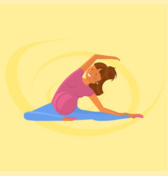 yoga for pregnant women vector image
