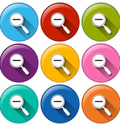 Zoom out icons vector image vector image