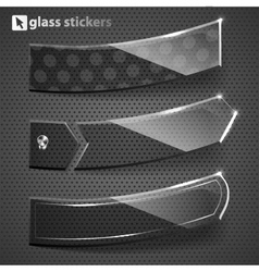 Glass stickers vector image