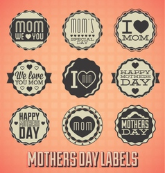 Happy mothers day labels and icons vector