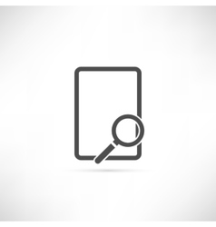 Empty find icon vector