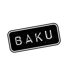 Baku rubber stamp vector