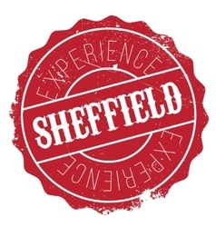 Sheffield stamp rubber grunge vector