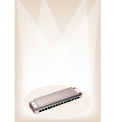 Blues harmonica stage background vector