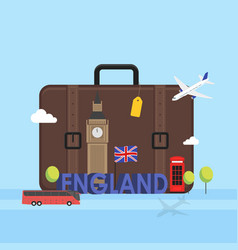 Travel to london great britain concept with vector