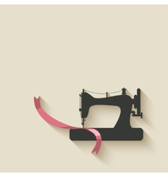 Sewing machine background vector
