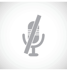 Muted microphone icon vector
