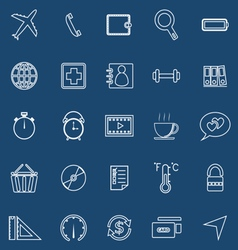 Application line icons on blue background set 2 vector