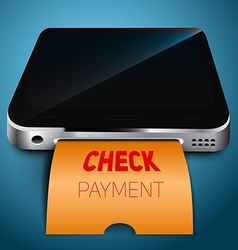 Payment check your mobile device vector