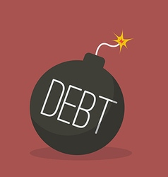 Debt bomb with sparkle vector
