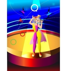 Circus clowning the woman vector