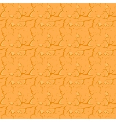 Cracked desert ground background vector