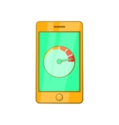 Battery indicator on phone icon cartoon style vector