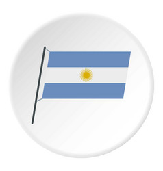 Argentina flag icon circle vector