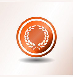 Award laurel wreath icon in flat design vector