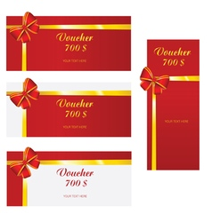 Bow voucher red vector