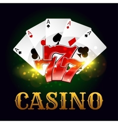 Casino poker game cards lucky number vector