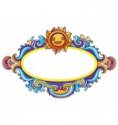 celestial frame vector image vector image