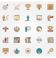 Colorful success icons vector