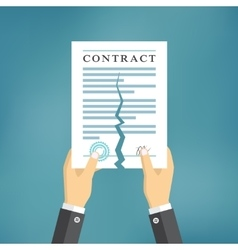 Contract termination concept vector image vector image