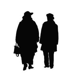 couple cute black silhouette vector image