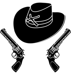 cowboy hat stencil vector image