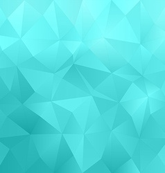 Cyan abstract triangle pattern background vector