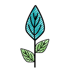 ecology plants with leaves icon vector image