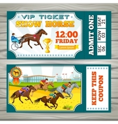 Equestrian show pass tickets vector