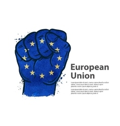 fist flag european union europe vector image vector image