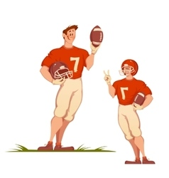 Football man with ball Sportsman isolated on vector image vector image