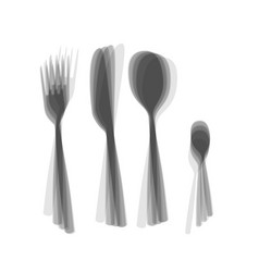Fork spoon and knife sign gray icon vector