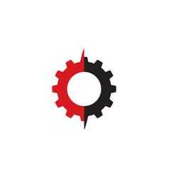 Gear system logo vector