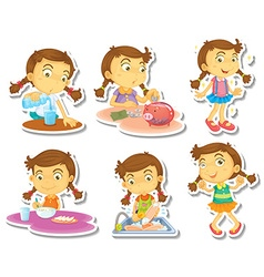 Girl routine vector image
