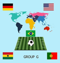 Group g - germany portugal ghana usa vector