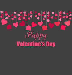 happy valentines day background with hearts and vector image vector image