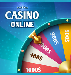 internet casino marketing background with vector image vector image