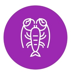 Lobster line icon vector