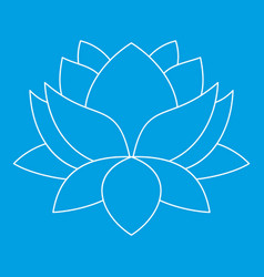 Lotus flower icon outline style vector