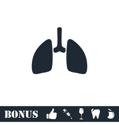 Lungs icon flat vector