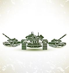 military tank symbol vector image