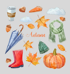 Nice autumn set vector